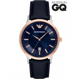 Emporio Armani Mens Rose Gold Plated Strap Watch AR2506