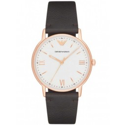 Emporio Armani Mens White and Rose Tone Watch AR11011
