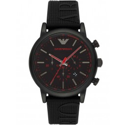 Emporio Armani Mens Black and Red Watch AR11024