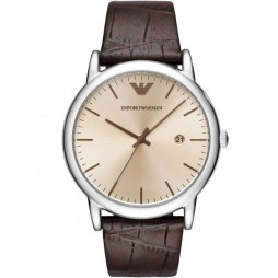 Emporio Armani Mens Leather Strap Watch AR11096