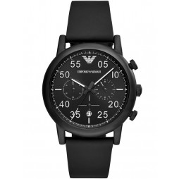 Emporio Armani Mens Luigi Chronograph Black Strap Watch AR11133