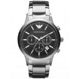 Emporio Armani Classic Mens Silver Chronograph Watch AR2434