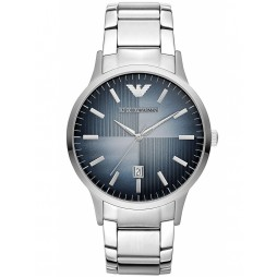 Emporio Armani Mens Blue Dial Watch AR2472