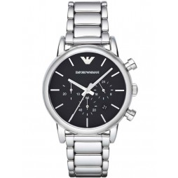 Emporio Armani Mens Black Dial Watch AR1853