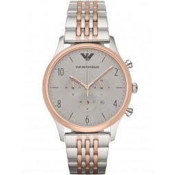 Emporio Armani Men's Two Tone Chronograph Bracelet Watch AR1864
