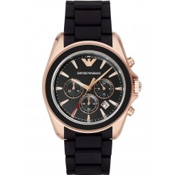 Emporio Armani Mens Black Chronograph Bracelet Watch AR6066