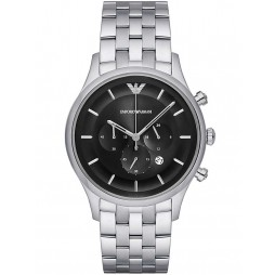 Emporio Armani Black Chronograph Bracelet Watch AR11017