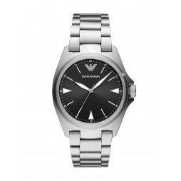 Emporio Armani Mens Black Dial Stainless Steel Bracelet Watch AR11255