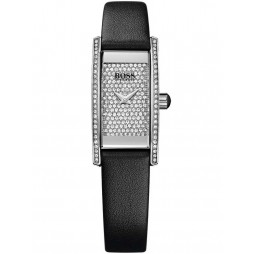 Hugo Boss Ladies Black Rectangular Leather Strap Watch 1502389
