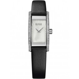 BOSS Ladies Cocktail Black Leather Strap Watch 1502390