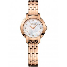 BOSS Ladies Rose Gold Plated Bracelet Watch 1502379