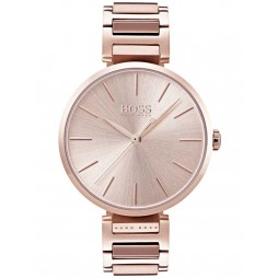Hugo Boss Ladies Allusion Rose Gold Plated Bracelet Watch 1502418