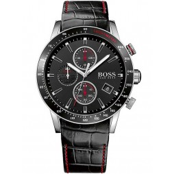 Hugo Boss Mens Rafale Black Dial Chronograph Watch 1513390
