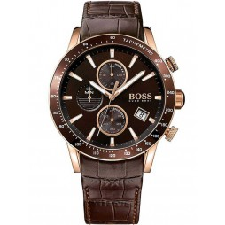 Hugo Boss Mens Rafale Rose Gold Plated Watch 1513392