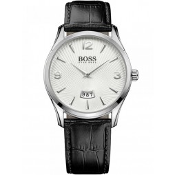 BOSS Mens Commander Black Leather Strap Watch 1513449