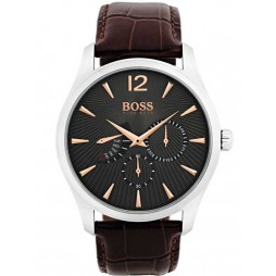 Hugo Boss Commander Brown Strap Watch 1513490