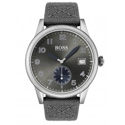 BOSS Mens Legacy Grey Fabric Strap Watch 1513683