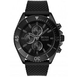 BOSS Mens Ocean Edition Chronograph Black Rubber Strap Watch 1513699