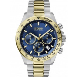 BOSS Mens Hero Sport Lux Blue Dial Two Colour Bracelet Watch 1513767