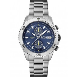 BOSS Mens Vela Blue Chronograph Dial Bracelet Watch 1513775