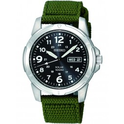 Seiko Mens Solar Strap Watch SNE095P2
