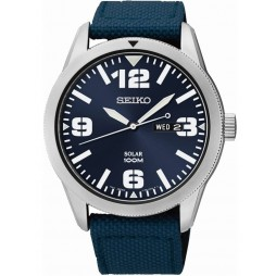 Seiko Mens Solar Powered Strap Watch SNE329P9