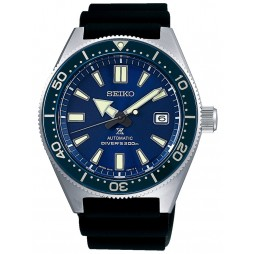 Seiko Mens Prospex Divers Automatic Blue Rubber Strap Watch SPB053J1