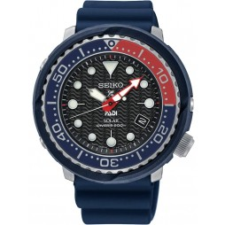 Seiko Mens Prospex Divers Solar Blue Rubber Strap Watch SNE499P1