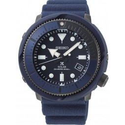 Seiko Mens Prospex Street Series Solar Navy Rubber Strap Watch SNE533P1