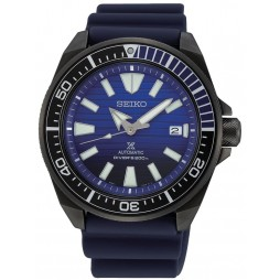 Seiko Mens Prospex Save The Ocean Blue Rubber Strap Watch SRPD09K1