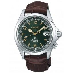 Seiko Mens Prospex Automatic Alpinist Green Date Dial Brown Leather Strap Watch SPB121J1