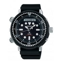 Seiko Mens Prospex Solar Arnie Diver Black Dial Rubber Strap Watch SNJ025P1