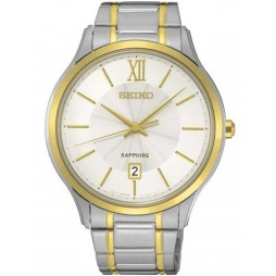 Seiko Mens Discover More Two Tone Bracelet Watch SGEH54P1