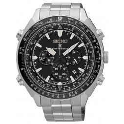 Seiko Mens Prospex Sky Solar Radio Controlled Black Bracelet Watch SSG001P1