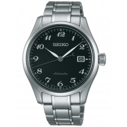 Seiko Mens Presage Black Automatic Watch SPB037J1