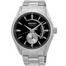 Seiko Mens Presage Black Power Reserve Watch SSA305J1