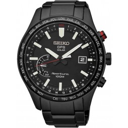 Seiko Mens Black Discover More Watch SSF005J1