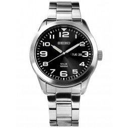 Seiko Mens Solar Bracelet Watch SNE471P1