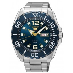 Seiko Mens 5 Baby Monster Automatic Blue Bracelet Watch SRPB37K1