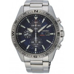 Seiko Mens Prospex Solar Chronograph Blue Bracelet Watch SSC703P1