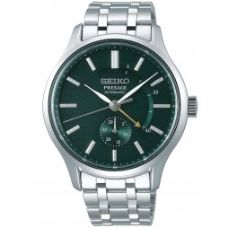 Seiko Mens Presage Automatic Japanese Garden Green Dial Stainless Steel Bracelet Watch SSA397J1