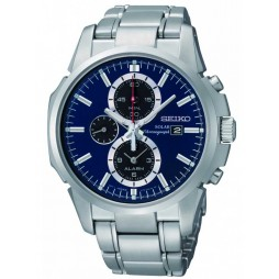 Seiko Mens Solar Powered Bracelet Watch SSC085P1