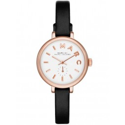 Marc Jacobs Ladies Sally Rose Gold Plated Strap Watch MBM1352