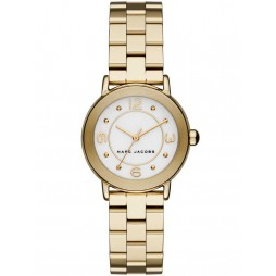 Marc Jacobs Ladies Riley Gold Plated Bracelet Watch MJ3473