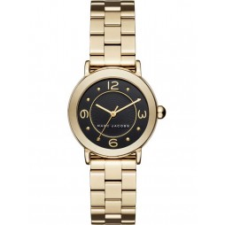 Marc Jacobs Ladies Riley Gold Plated Bracelet Watch MJ3513