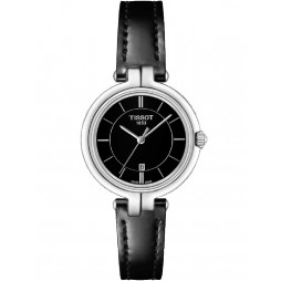 Tissot T-Lady Flamingo Black Strap Watch T094.210.16.051.00