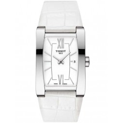 Tissot T-Lady Generosi-T White Strap Watch T105.309.16.018.00