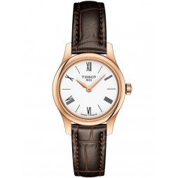 Tissot Ladies T-Classic Tradition Rose Gold Plated Watch T063.009.36.018.00