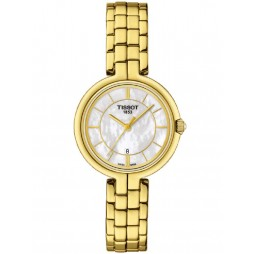 Tissot T-Lady Flamingo Gold Plated Watch T094.210.33.111.00