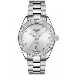 Tissot Ladies T-Classic PR-100 Sports Chic Diamond Watch T101.910.11.036.00